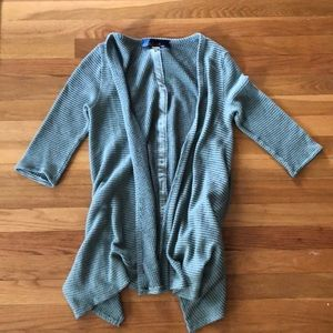 Blue Rain knit sweater with buttoned back